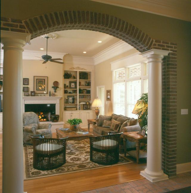 Wooden Arch Designs In Living Room